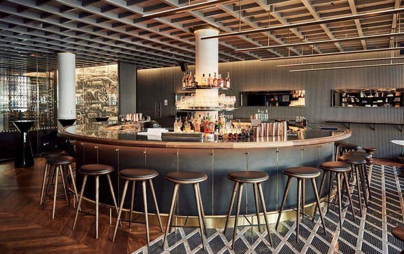 El bar del restaurante Intersect by Lexus , en NY.
