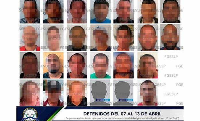 En la última semana FGE realizó 26 detenciones