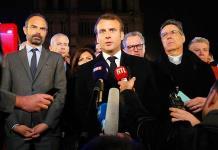 Macron iba a anunciar disminución de impuestos cuando ardió Notre Dame