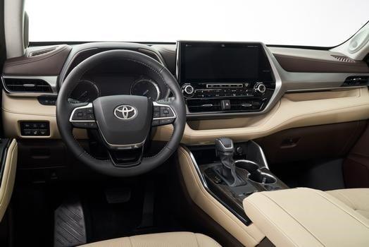 Interiores del Highlander de Toyota.