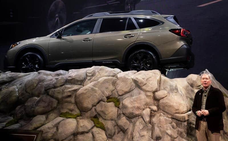 Subaru Outback en su presentación en NY.