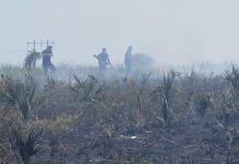 Sigue sin control incendio forestal en Las Moctezumas