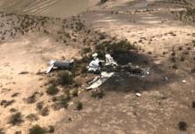 Rescatan restos de víctimas de avión accidentado en Coahuila