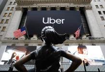 Uber cierra su primer día en bolsa con caída del 7.56 %