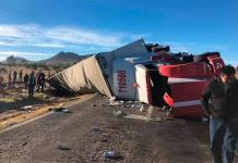 Se registra rapiña tras volcadura de tráiler cargado de cervezas en carretera de Zacatecas