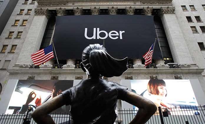 Mal debut de Uber en la bolsa