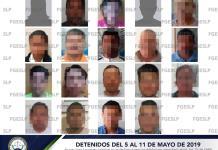 Caen 19 personas por diferentes delitos en segunda semana de mayo