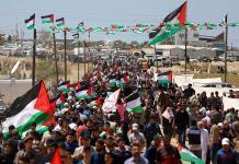 Palestinos recuerdan aniversario de su desplazamiento masivo para la creación de Israel