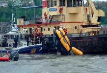 Dos heridos leves al estrellarse un helicóptero en el río Hudson