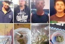 Por drogarse en la calle, capturan a 6