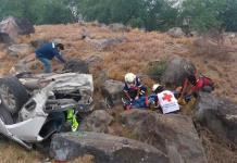 Tres heridos en volcadura sobre la Rioverde-San Luis