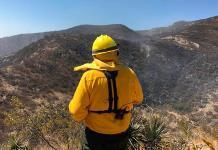 Esperan hoy liquidar incendio en la sierra de San Miguelito
