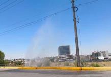 "Caudalosa fuga de agua en ""Antonio Rocha Cordero"""