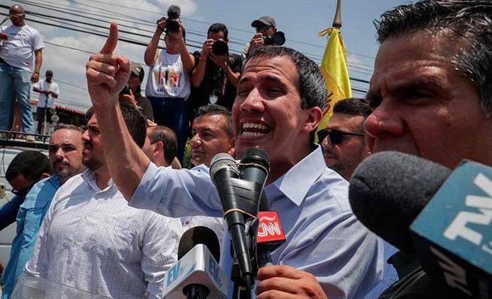 Guaidó llama a protestar durante visita de Bachelet a Venezuela