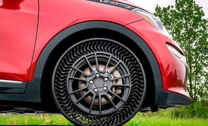 GM prueba neumático que no se poncha (VIDEO)