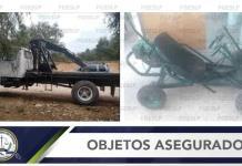 Localizan dos vehículos robados de una bodega en Mexquitic