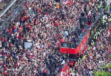 Toronto festeja a lo grande el campeonato de los Raptors