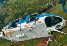 Desploma helicóptero en Edomex; hay un muerto