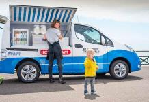 Desarrollan camioneta de helados 100 eléctrica (VIDEO)