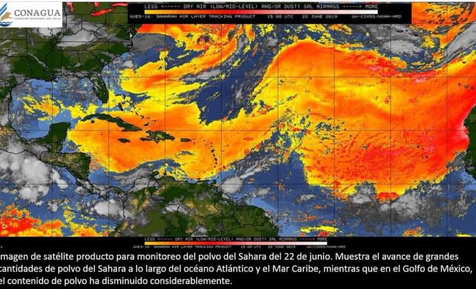 Se acerca a territorio mexicano la nube de polvo del Sahara