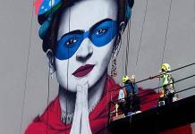 Gran mural sobre Frida Kahlo
