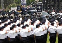 Celebran a Policía Federal con desangelado evento