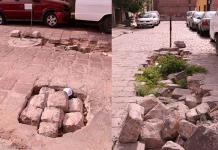Denuncian obra de drenaje a medias en Montes de Oca