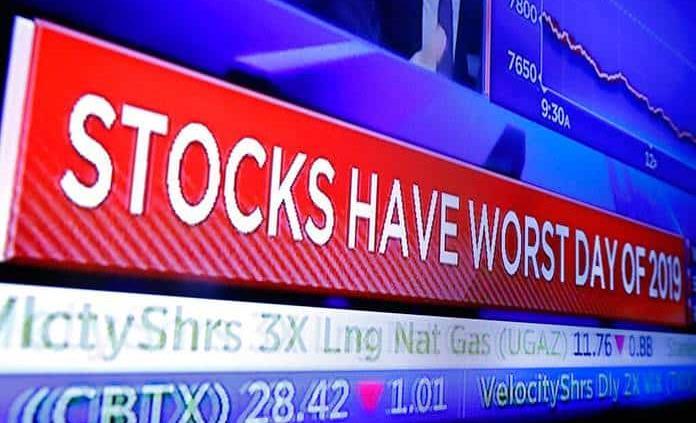 Wall Street se desploma por guerra comercial EEUU-China