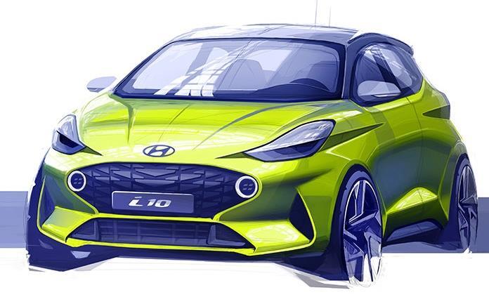 Hyundai adelanta el primer boceto del nuevo i10