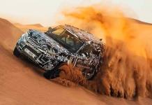 Prototipo del Land Rover Defender, a prueba en el desierto