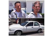 Robacarros son perseguidos y capturados por municipales