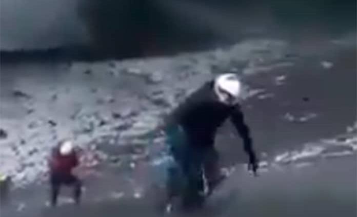 Captan en video a alpinistas en el cráter del Popocatépetl