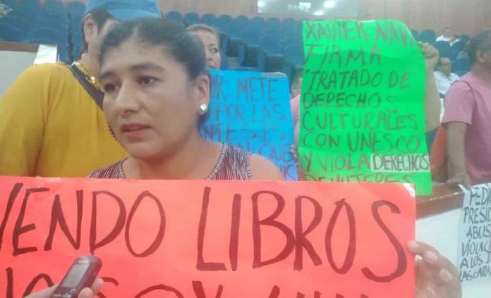Comerciantes desalojados de El Carmen, presentes en sesión legislativa