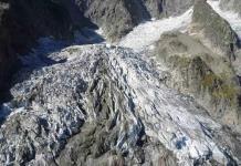 Glaciar Planpincieux en Mont Blanc, a punto de colapsar