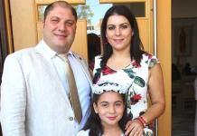 Dalel Valentina Abraham Dayoub realizó su primera comunión