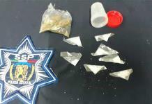 Detienen a cuatro supuestos vendedores de cristal y mariguana