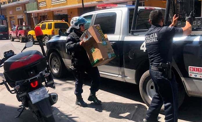 Retiran policías 45 objetos usados para apartar estacionamiento en distintas zonas de la capital