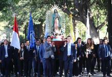 Alumnos del Instituto Andes y Colegio del Bosque realizan peregrinación a la Virgen de Guadalupe