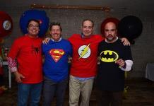 Óscar Mendizábal, Manolo Martins, Antonio Gutiérrez y Manuel Carrillo, festejaron sus cumpleaños