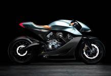Las alas de Aston Martin, en una motocicleta