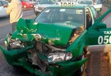 Taxista herido tras chocar en rúa a Rioverde