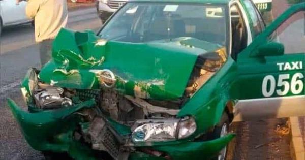 Taxista herido tras chocar en rúa a Rioverde - Pulso Diario de San Luis