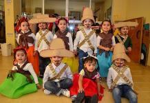 Niños celebran los 109 años del inicio de la Revolución Mexicana
