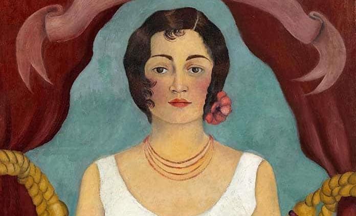 """""""Retrato de una mujer de blanco"""" de Frida Kahlo, subastada por 5,8 mdd"""