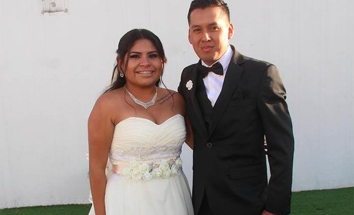 María del Carmen Guerrero Galván y Sergio Alberto Rodríguez Ramírez realizan su matrimonio civil