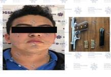 Detienen a un sujeto en posesión de arma de fuego en Matehuala