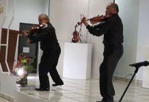 Todo un éxito, el concierto de violín y saxofón