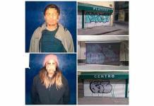 Pareja es arrestada por grafitear en el Centro