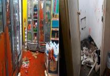 Vándalo es detenido por causar daños en tienda