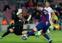 Lidera Lionel Messi goleada de Barcelona